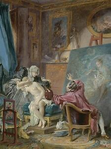 PIERRE-ANTOINE-BAUDOUIN-FRENCH-HONEST-MODEL-OLD-ART-PAINTING-POSTER-BB6284A