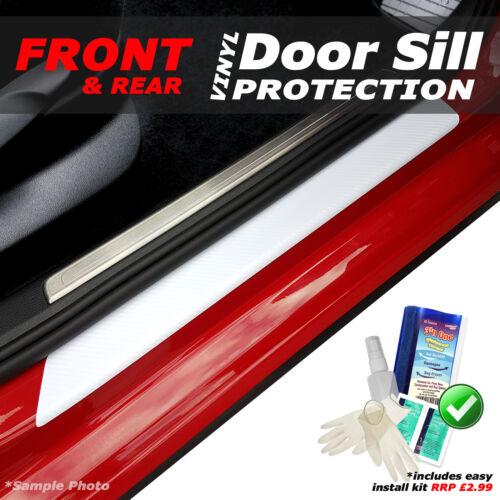 KIT! Suzuki Swift 5DR 2010 4PC White Carbon Vinyl Door Sill Protectors