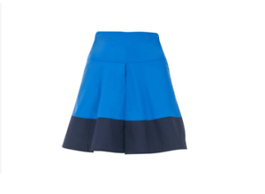 Louche-Seadra-Box-Pleat-Skirt-Blue-Size-UK-12-rrp-29-DH086-GG-10