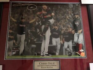 Chris-Sale-AUTOGRAPHED-SIGNED-16x20-PHOTO-FRAMED-18-WORLD-SERIES-BOSTON-RED-SOX