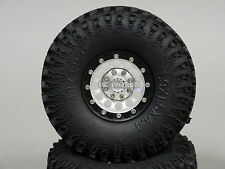 RC 1/10 Tamiya Axial JEEP  1.9 Bead Lock METAL Wheels W/ Swampers  (4 Set)