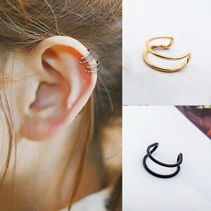 Image Is Loading Men Women Clip On Earrings Non Piercing Ear