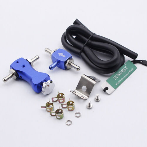 Adjustable Car Manual Turbo Boost Controller Turbocharger Valve Blue