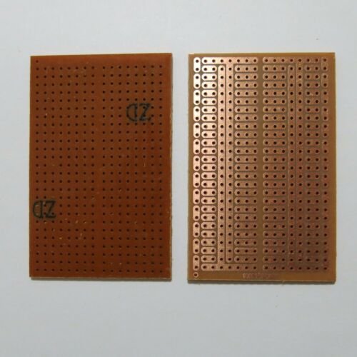 5pcs 4.5x7cm Stripboard Vero 2er 3er joint hole Prototype circuit board pcb