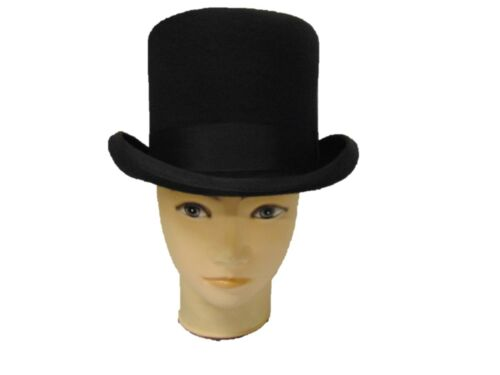The Famous Christys of London Black Fashion Wool Felt Top Hat 4 sizes fast post