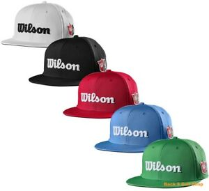 a6a9cbc3466 Image is loading Wilson-Staff-Flat-Brim-Golf-Hat-Adjustable-New-