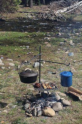 Campfire Cooking Grill BBQ Grate cookware dutch oven Bushcraft **FREE SHIPPING**