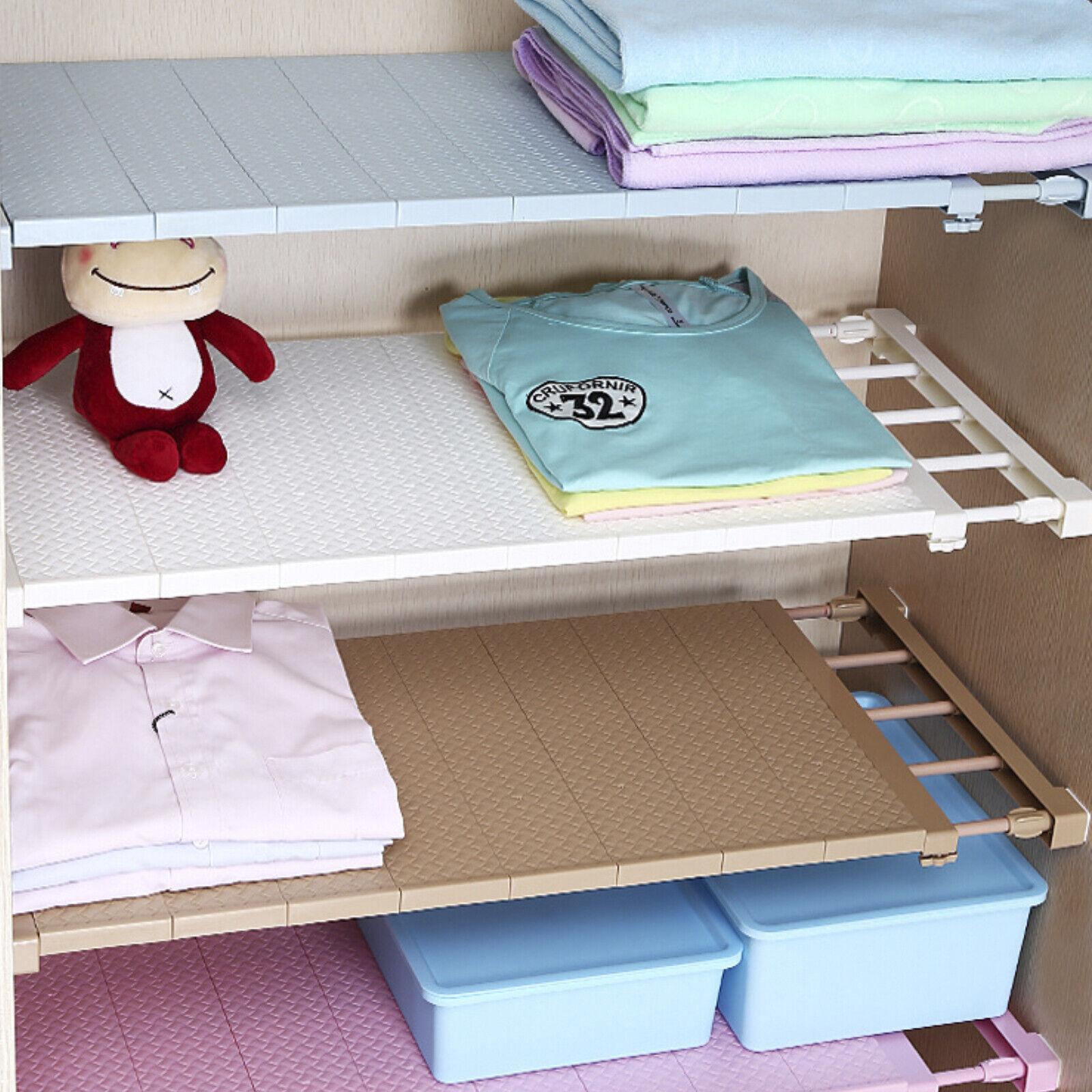 Adjustable Kitchen Cupboard Shelf Storage Rack Bathroom Organiser Cabinet Holder Ebay