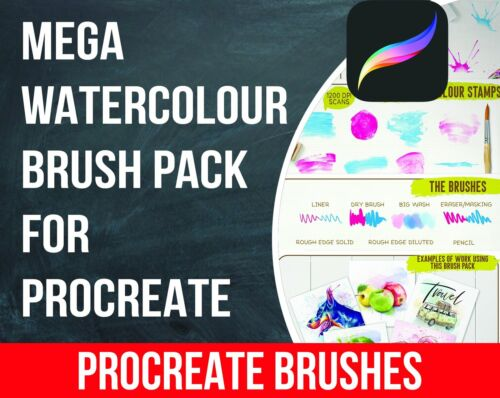 Mega Watercolour Brush Pack for Procreate Procreate Art Ipad Digital Download!