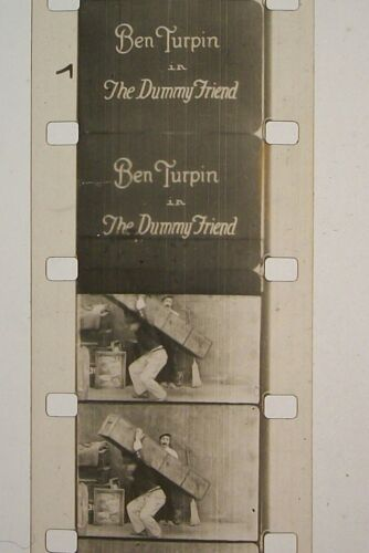 BEN TURPIN IN THE DUMMY FRIEND 16MM FILM MOVIE ROLLED NO REEL E5
