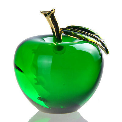 New Crystal Glass Apple Paperweight Unique Home Decorations Lady Wedding Gifts