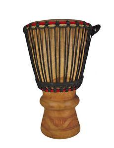 Grosse Mächtige Afrika Bougarabou Bass Drum Trommel Djembe Kuhhaut nr.4