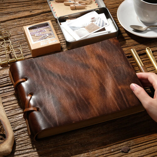 Handmade Thick Vintage Leather Sketch Book Drawing Book Luxury Notebook Gift