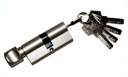 60mm Knaufzylinder Profilzylinder Zylinderschloss Knaufschloss mit 5 Schlüsseln