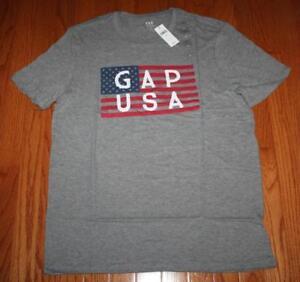 dda16c423a3b4 NEW NWT Mens GAP LOGO Graphic Tee T-Shirt Stars Stripes American ...