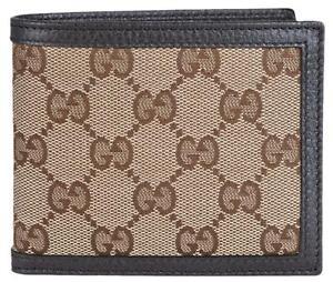 65f527afb6873e NEW Gucci Men's 260987 Beige Canvas GG Guccissima Bifold Wallet   eBay