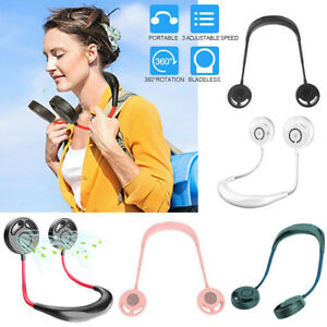 Portable-Bladeless-Mini-Fan-Neckband-Lazy-Neck-USB-Rechargeable-Hanging-Cooler