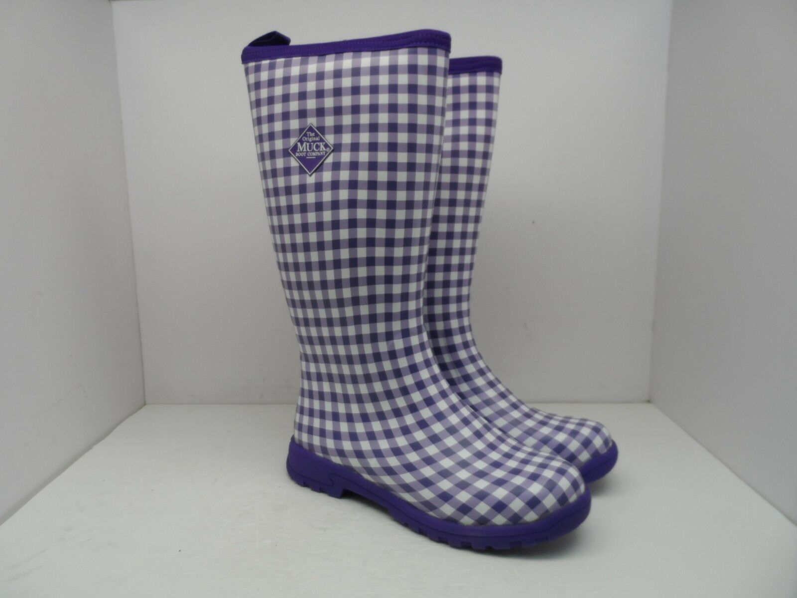 Muck botas para Mujer Breezy alto aislado para Lluvia Lluvia Lluvia botas BZT-5GHM Púrpura Cuadros 10M  garantía de crédito