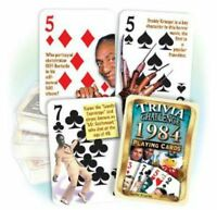 1984 Trivia Playing 52 Card Deck Nostalgia 32nd Birthday / Anniversary / Reunion