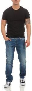 DIESEL-TEPPHAR-0859r-859r-Jeans-Uomo-Slim-Carrot-blu-look-usato-nuovo