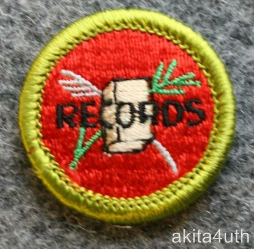 Boy Scout BSA Farm Records Merit Badge Discontinued Type H