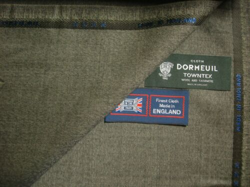 """Dormeuil 95/% WOOL+5/% CASHMERE """"VINTAGE"""" SUITING FABRIC /""""CASHMERE TOWNTEX/"""" 3.4 m"""