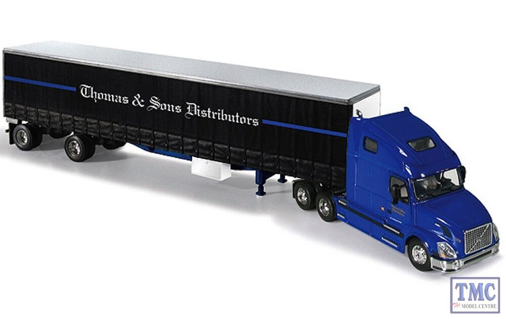 60-0240 First Gear 1 64 SCALE Volvo VN 670 Thomas & Sons 48' Curtainside Trailer