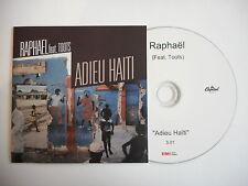 RAPHAEL feat TOOTS : ADIEU HAITI [ CD PROMO ] ~ PORT GRATUIT