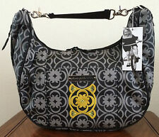 * Petunia Pickle Bottom Casbah Nights Touring Tote Diaper Bag Gray Black Purse