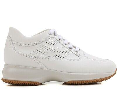 Hogan scarpe sneaker donna interactive H bucata HXW00N00E30KLAB001 bianca | eBay