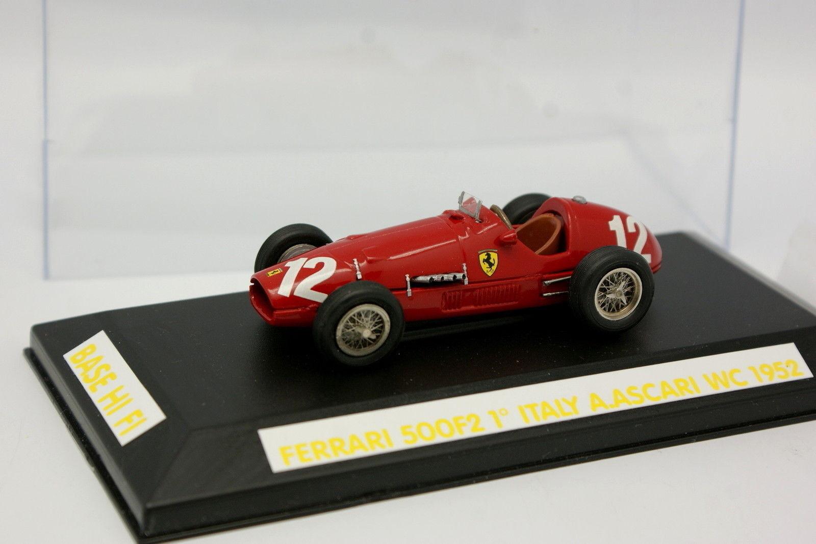 Hi fi assembled kit 1 43 - f1 ferrari 500 f2 n 12 winner  GP 1952 ascari