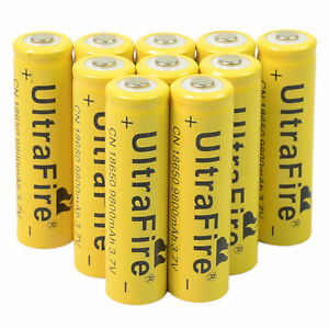10-X-3-7V-18650-9800mAh-Li-ion-Rechargeable-Battery-For-Torch