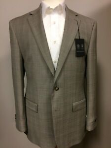Tan Subtle Plaid Suit 42r By Austin Reed Ebay