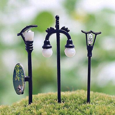 Lots Fairy Dollhouse Decor Garden Ornament Miniature Streetlight Craft Plant Pot
