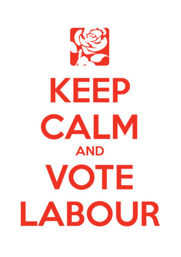 16 Labour Keep Calm Vote Jeremy Corbyn Election Wall Art Poster All Sizes
