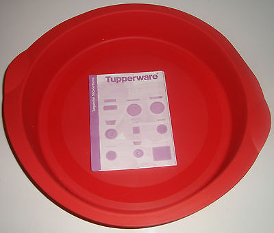 Tupperware Red Silicone Baking Form 26 cm 10 inch