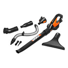 New WORX 20V WG545.1 Air Blower/Sweeper/Cleaner 120mph *TOOL & ATTACHMENTS ONLY*