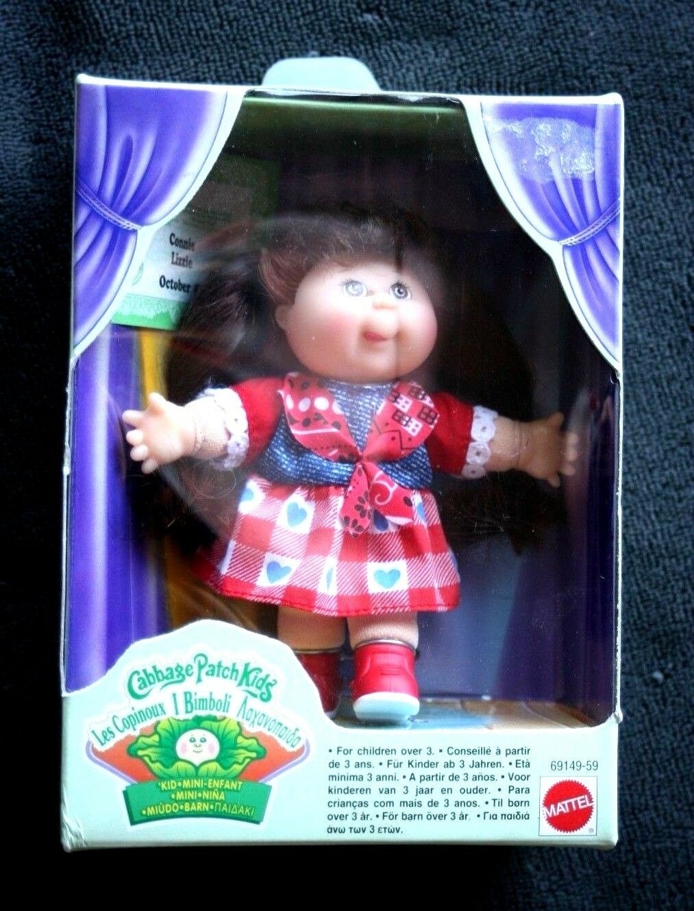 VINTAGE CABBAGE PATCH DOLL: CONNIE LIZZIE (MUÑECA REPOLLO). NEW IN BOX SEALED OS