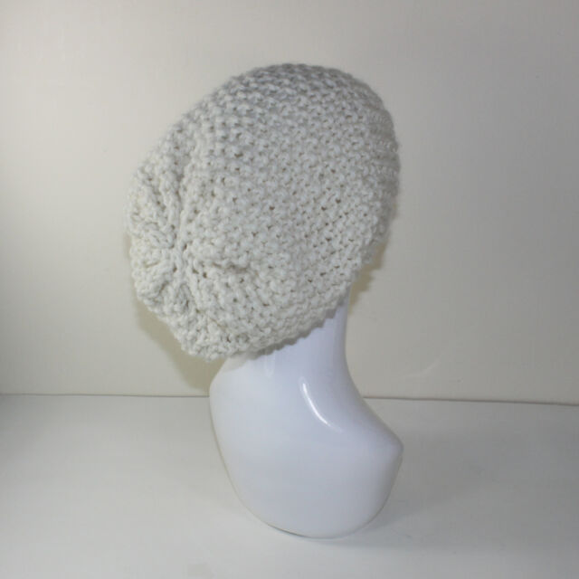 PRINTED INSTRUCTIONS -SUPER CHUNKY MOSS STITCH SLOUCH HAT KNITTING PATTERN