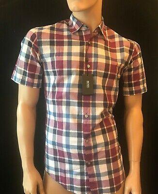 Shirts & Hemden Realistisch Bnwt Hugo Boss Men's Marco 2 Pink Multi Check Slim Fit Short Sleeve Shirt Size Ein Unbestimmt Neues Erscheinungsbild GewäHrleisten Klassische Hemden