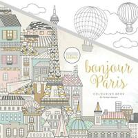 Coloring Book Kaisercolour Perfect Bound Bonjour Paris City Hot Air Balloons