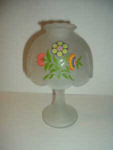 Westmoreland-Glass-Fairy-Lamp-Country-Floral-Flowers-Crystal-Mist-Votive