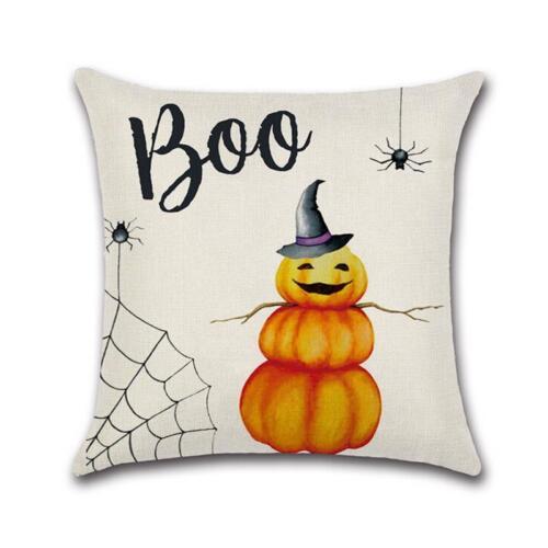 Happy Halloween Cotton Linen Pillow Case Cushion Cover Home Car Decorative Throw