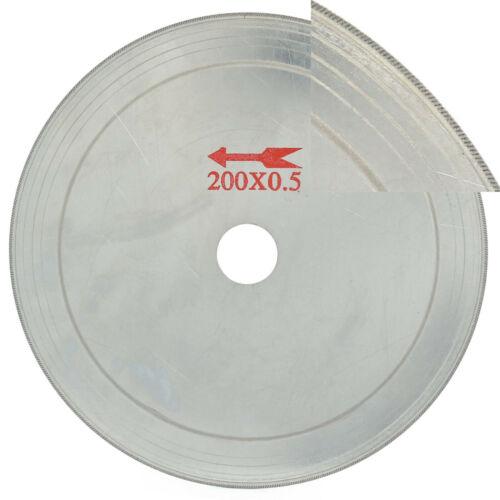 "8/"" inch Arbor 25mm Ultra-thin Diamond Saw Blade Lapidary Cutting Disc 0.65mm Rim"