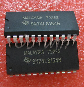 5PCS-SN74LS154N-IC-DECODER-DEMUX-4-16LINE-24-DIP-NEW-GOOD-QUALITY
