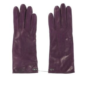 Coach-244465-Womens-Casual-Leather-Basic-Wrist-Gloves-Solid-Iris-Size-7