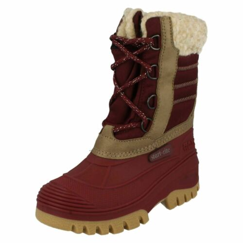 Girls Startrite Warm Lined Boots Rustic