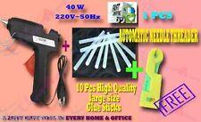40 W Brand New Hot melt Glue Gun + 10 Pcs BIG Glue Sticks WITH FREE GIFT