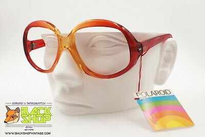 Polaroid Mod. 8637 Vintage Sunglasses Frame, Orange & Red, New Old Stock 70s Prestazioni Affidabili