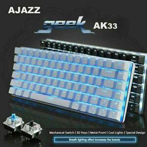 Ajazz AK33 Mechanische Gaming-Tastatur USB-Kabel 82 Tasten für PC Laptop Office